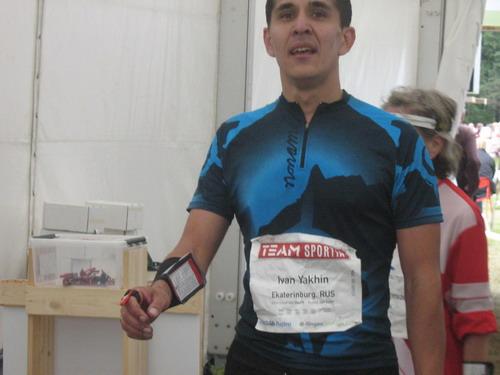 Иван Яхин на финише