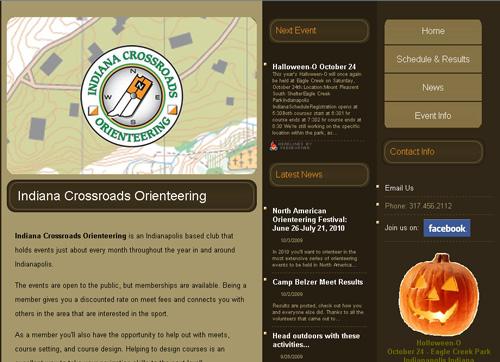 Indiana Crossroad orienteering