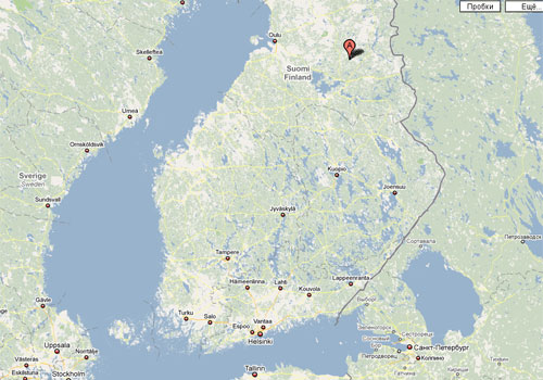 Место проведения Kainuu Rastiviikko на карте Финляндии