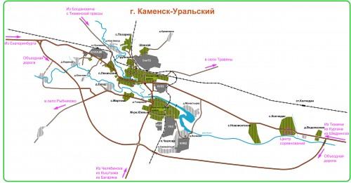 Схема проезда к центру соревнований
