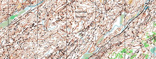 карта Surebridge mountain