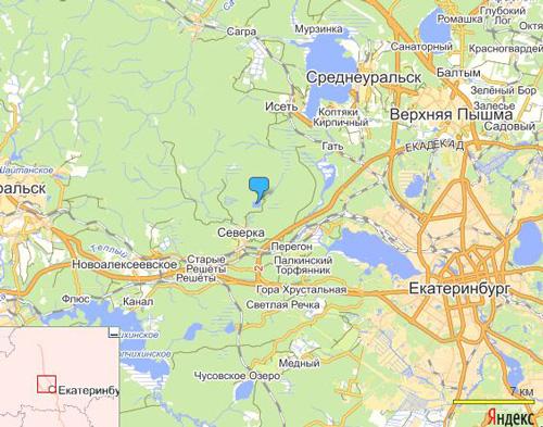 Озеро на карте